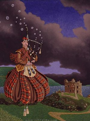Bubble-bagpiper